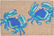 Trans Ocean Imports 1404/03 Crabs Blue 30X48