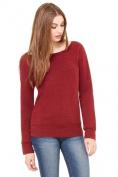 Bella-Canvas B7501 Womens Sponge Fleece Wide Neck Sweatshirt Dark Red Triblend - Medium