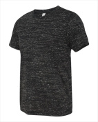 Bella-Canvas C3650 Unisex Poly-Cotton Short Sleeve Tee - Black Marble Small