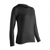 Platinum Long Sleeve Womens Top Black - Large