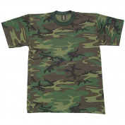 Fox Outdoor 64-24C CAMO S Boys Short Sleeve T-Shirt - Woodland Camo Small