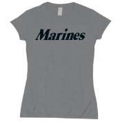 Fox Outdoor 64-0945 S Womens Marines Imprint Cotton Tee - Grey Small
