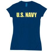 Fox Outdoor 64-093 M Womens U.S. Navy Imprint Cotton Tee - Navy Medium