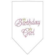 Mirage Pet Products 67-12 SMWT Birthday Girl Rhinestone Bandana White Small
