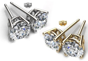 Glimmering GE006-CR 6 mm.Round Shape Rhodium Plated Crystal Colour Stud Earrings Made with. Crystals
