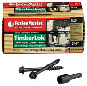 FastenMaster FMTLOK212-50 6.4cm . Timberlok Heavy Duty Wood Screw 50 Pack