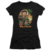 Boop-Hula Boop Ii - Short Sleeve Junior Sheer Tee Black - Extra Large