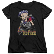Boop-Not Your Average Mother - Short Sleeve Womens Tee Tee Black - Extra Large