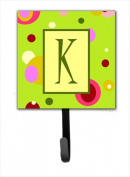 Carolines Treasures CJ1010-KSH4 Letter K Initial Monogram - Green Leash Holder Or Key Hook