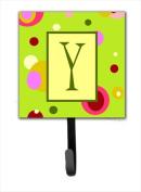 Carolines Treasures CJ1010-YSH4 Letter Y Initial Monogram - Green Leash Holder Or Key Hook