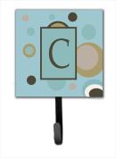 Carolines Treasures CJ1013-CSH4 Letter C Initial Monogram - Blue Dots Leash Holder Or Key Hook