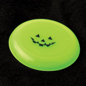 Dozen Glow In The Dark Halloween Pumpkin Jack O Lantern Mini Flying Disc Saucers - 9.5cm