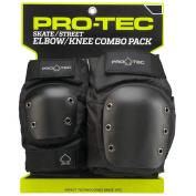 PRO-TEC Street Black X-Large Knee & Elbow Combo Skate Pads