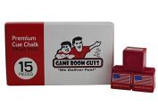 Game Room Guys 15 Piece Premium Pool Cue Chalk