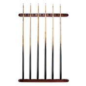 12 Cue Wall Mounted Billiard Stick Rack with Wooden Finish by Felson Billiard Supplies