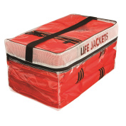 Kent Type II Adult Life Jackets with Clear Storage Bag, 4 Each