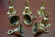 8 Pcs Handmade Cow Goat Sheep Solid Brass Bells 5.1cm