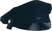 Unisex Adults Fancy Dress Party Accessory Chauffeur Limo Driver Peaked Hat Black