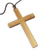 Large Gold Cross for Crucifix Nun Priest Fancy Dress Accessory