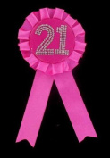 Rosette Badge Age Birthday Favours Favours Badge 21, Pink