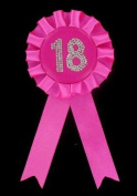 Rosette Badge Age Birthday Favours Favours Badge 18, Pink