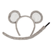 Mouse Ears & Tails Accessory for Animals Fancy Dress