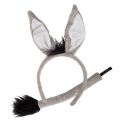 Donkey Ears & Tails Accessory for Animals Fancy Dress
