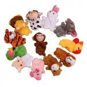 Baby Finger Puppets Koly 12Pcs Zoo Zodiac Soft Small Animal Puppets Finger Plush Toys