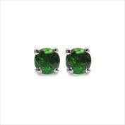 Jewellery-Schmidt-Rare green Tsavorite Earrings-Sterling Silver Rhodium-0, 76 carats