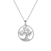 Spiralling Silver Tree of Life Pendant
