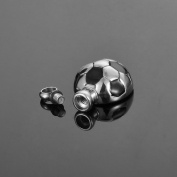 HooAMI Stainless Steel Cremation Football Urn Detachable Charm Pendant Necklace 27.6mmx17.4mm
