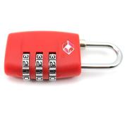 DDU(TM) 1Pc Red TSA Resettable 3 Digit Smart Combination Customs Lock Case Padlock
