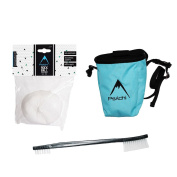 Psychi Bouldering Climbing Starter Pack with Chalk Bag Chalk and Brush
