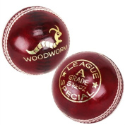 6 x Woodworm League Special 150ml Cricket Balls RED