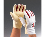 grey-NICOLLS Chamois Padded Wicket Keeping Inner Gloves, Mens