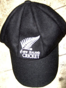 CLASSICAL TRADITIONAL MELTON WOOL CRICKET CAP WITH NEW ZEALAND LOGO 58-61CM