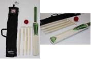 Kids,Childs junior Cricket Set. Wood beach garden wooden cricket bat & ball set.