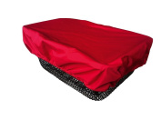 NICE 'N' DRY Cover for front and rear Bike Basket - red