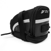 BV Bicycle Strap-On Saddle/Seat Bag, Black