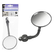 Universal Adjustable Bicycle Rear View Safety Mirror & Reflector