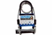 Oxford U-Lock and Cable Essential Shackle Lock - Black, 32 cm