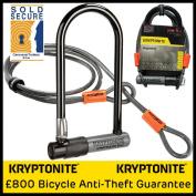 KryptoLok Series 2 Std Bike U-lock with 1.2m Kryptoflex cable
