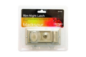 RIM NIGHT LATCH SILVER LOCKING FOR DOOR GARDEN GATE SHED WITH SPARE KEYS