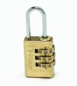 Hilka 70760020 20 mm Brass Combination Padlock