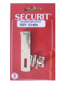 7.6cm INCH BRASS HASP AND STAPLE WITH SCREWS