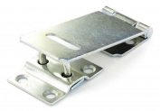 """90mm (3.5"""") - Hasp and Staple Gate Door Shed Latch Lock For Padlocks Zinc"""