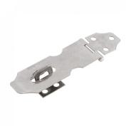 Cupboard Safety Padlock Door Latch Silver Tone Hasp Staple 6.4cm 2 Set