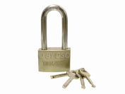 60mm Heavy Duty Long Shackle Padlock with 4 Security Keys LK024