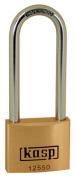 Kasp 125 Premium Brass Padlock - 50x80 Millimetres - Long Shackle