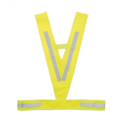 M-Wave Reflective Light Breathable High Viz Triangle Vest - Yellow, One Size